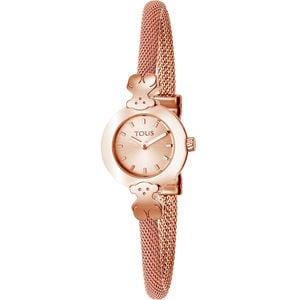 Rellotge Chic Mesh d'acer IP rosat