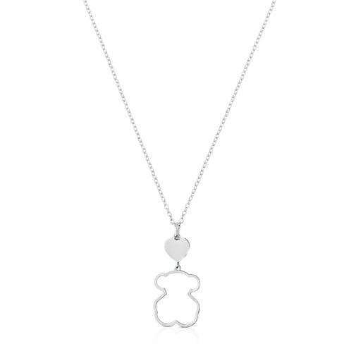 Silver TOUS New Silueta Necklace Bear motif