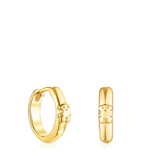 Silver Vermeil TOUS Basics bear Hoop earrings
