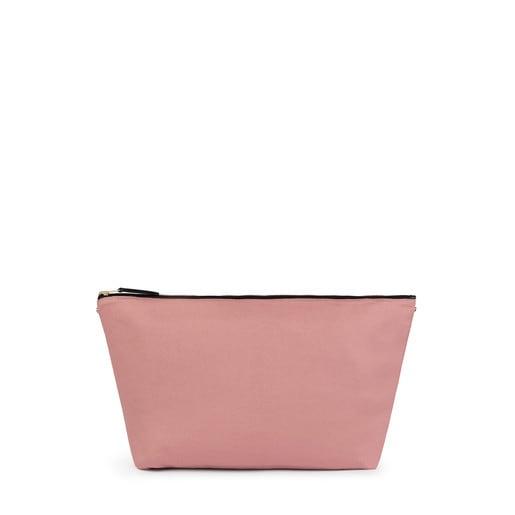 Τσάντα μεσαίου μεγέθους Kaos Shock σε ροζ-μπεζ χρώμα