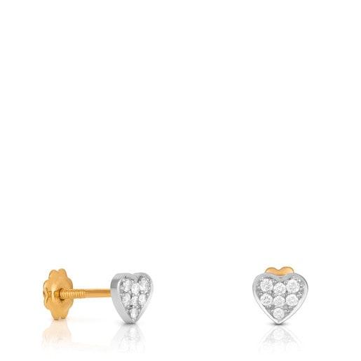 Pendientes San Valentín de Oro blanco con Diamantes