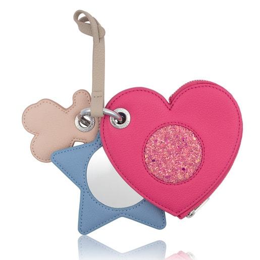 Llavero Motif en color rosa-azul