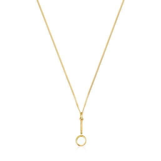 Halskette Job Lupe aus Vermeil-Silber