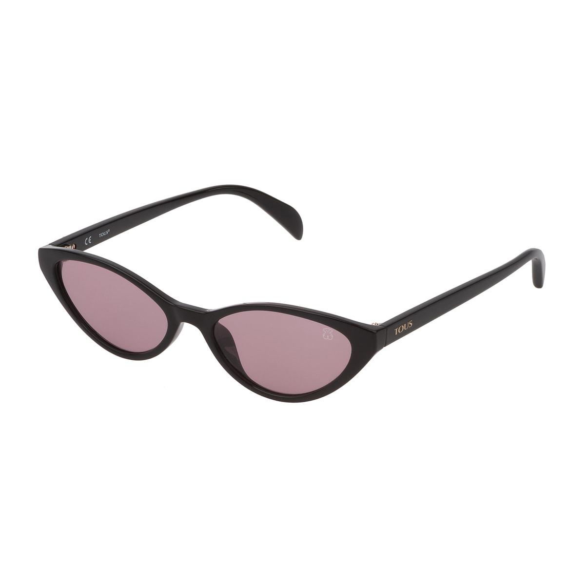 Óculos de sol Bear Cat Eye em Acetato na cor preta