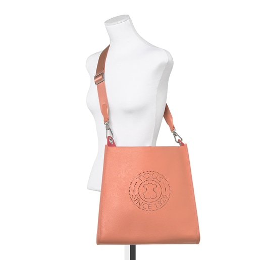 Orange Leather Leissa Shoulder bag