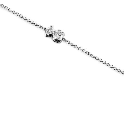 Pulsera Icon Gems de Oro blanco y Diamantes
