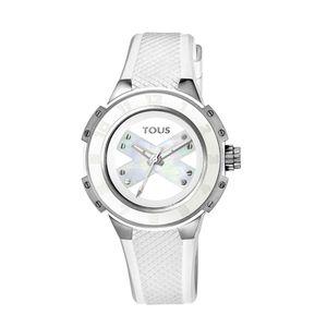 Rellotge Xtous Lady d'acer amb corretja de silicona blanca
