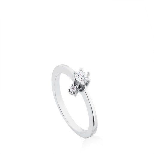 White Gold TOUS Les Classiques Ring with Diamond. 0.15ct