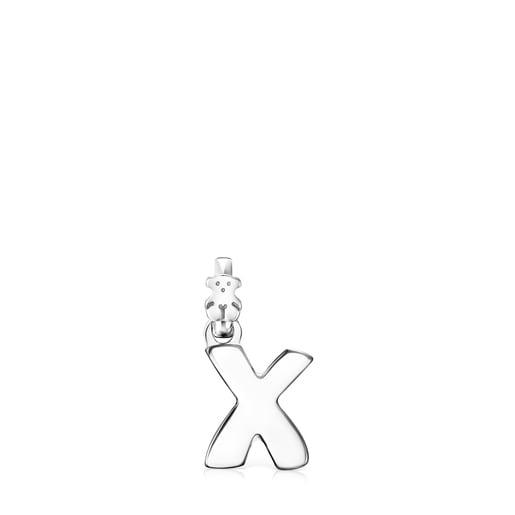 Μενταγιόν Alphabet από ασήμι με το γράμμα X
