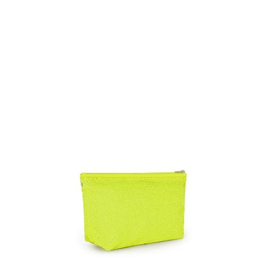 Small Neon Yellow Kaos Shock Sequins Handbag