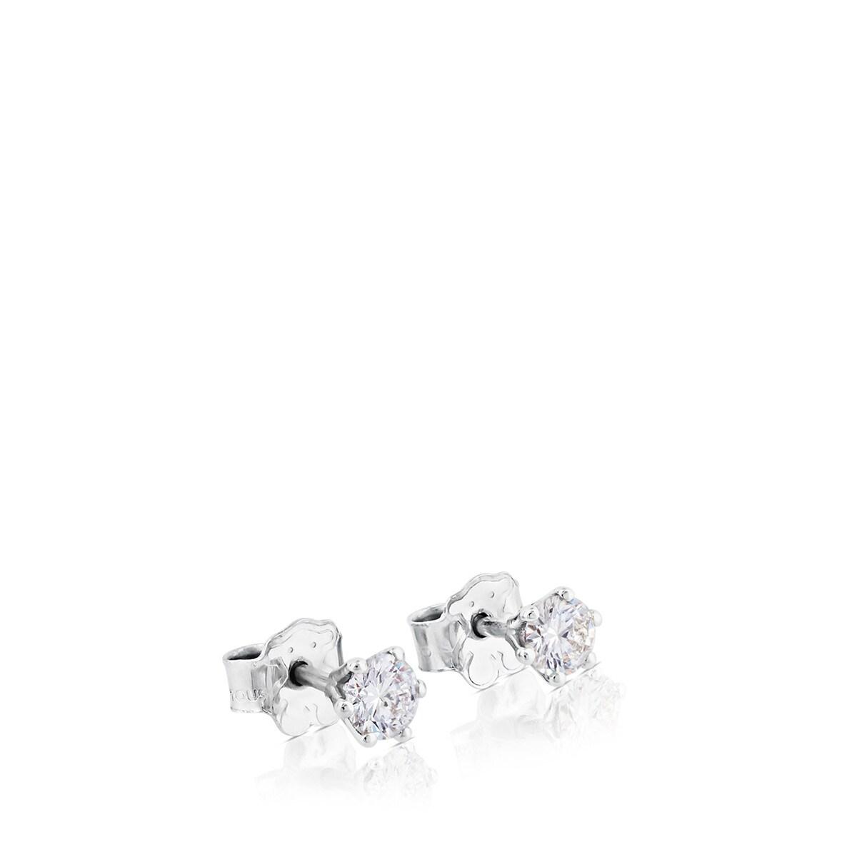 c75ba318d54b Pendientes TOUS Diamonds de Oro blanco con Diamantes - Sitio web ...