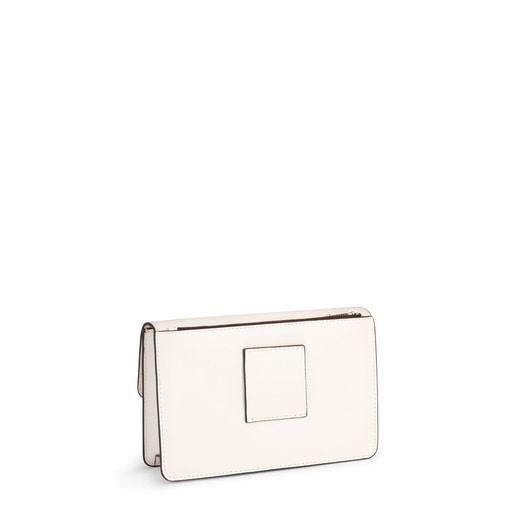 Μικρή Τσάντα Χιαστί Hold σε λευκό χρώμα