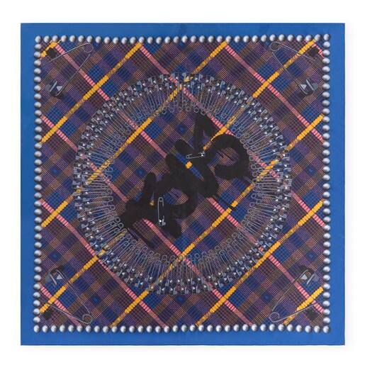 Pañuelo Tile Exene negro y azul