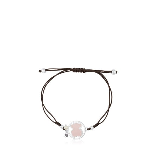 Silver Camille Bracelet with Rose Quartz, Iolite and Pearl