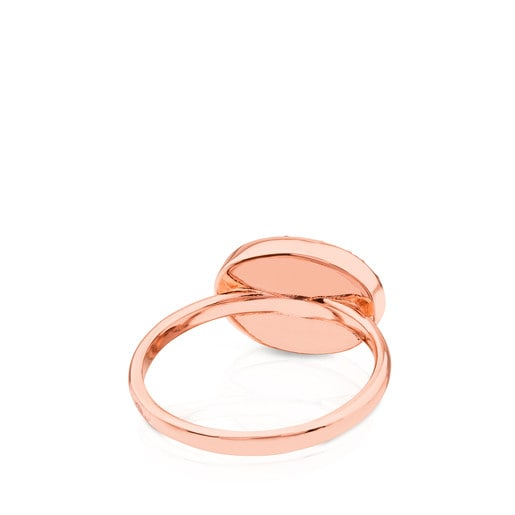 Rose Vermeil Silver Motif Ring