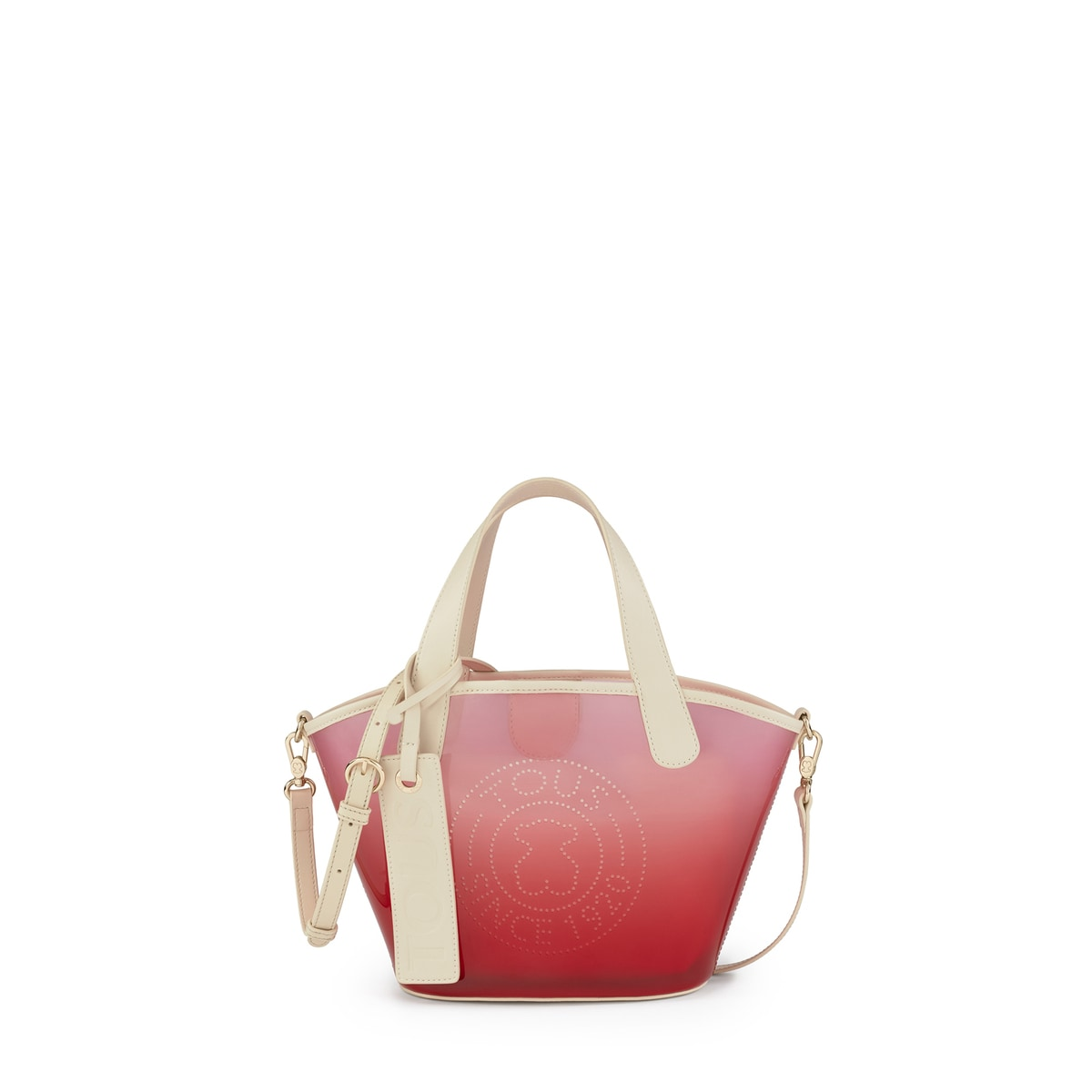 leather bag with colorful strap