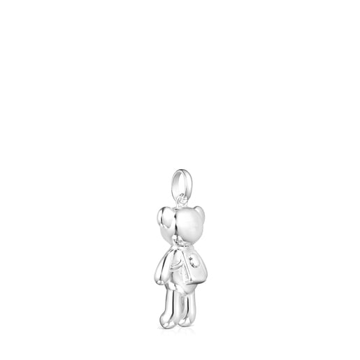 Silver Teddy Bear backpack Pendant