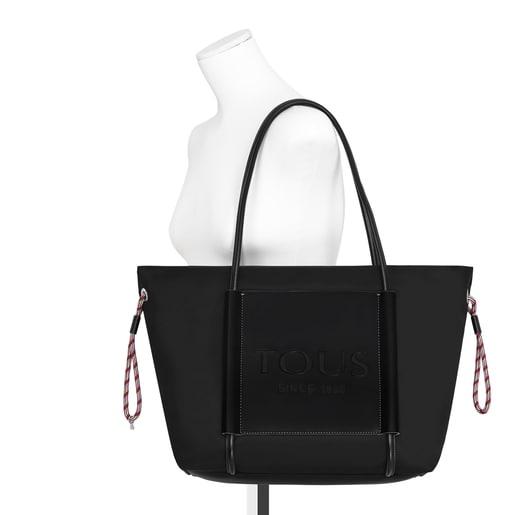 Μεγάλη μαύρη τσάντα Tote Empire Soft