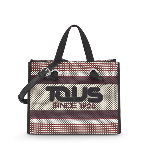 Medium Woven Tweed Amaya Shopping Bag