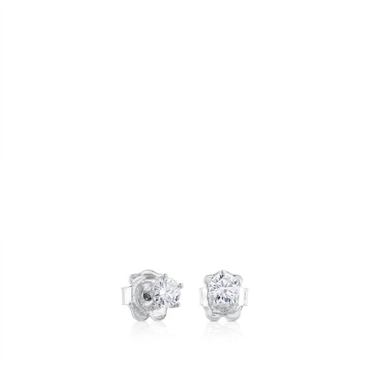 White Gold TOUS Les Classiques Earrings with Diamond. 0,45ct.