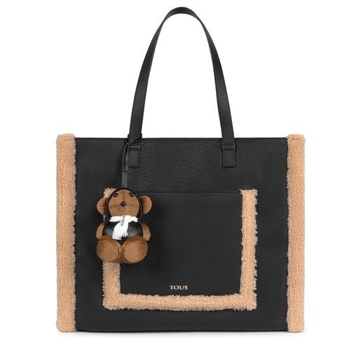 Large black Amaya Aviator Shopping bag