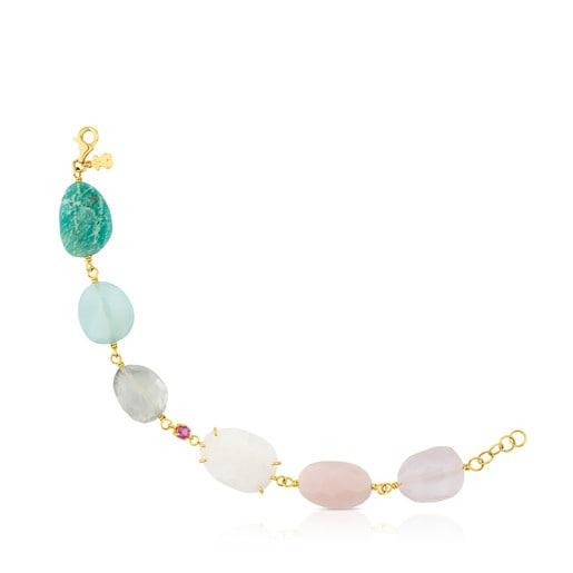 Gold Ethereal Bracelet with Gemstones
