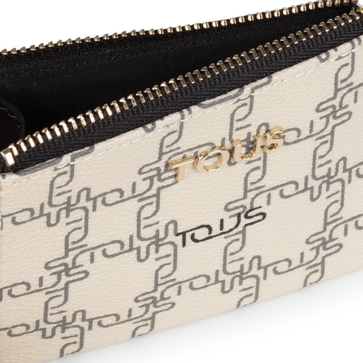 Beige New TOUS Logogram Change purse-cardholder