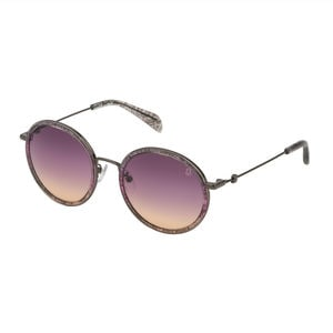 Gray Metal and Acetate Sunset Sunglasses