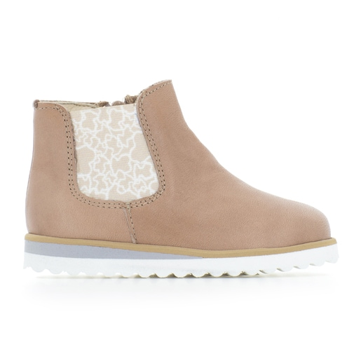 Run girl's ankle boots in Taupe