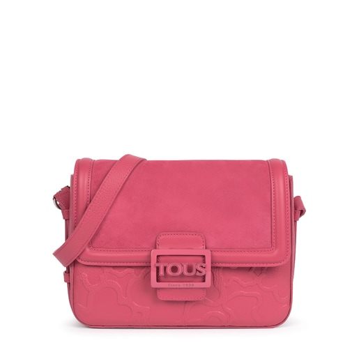 Medium pink Tous Icon LOVE crossbody bag