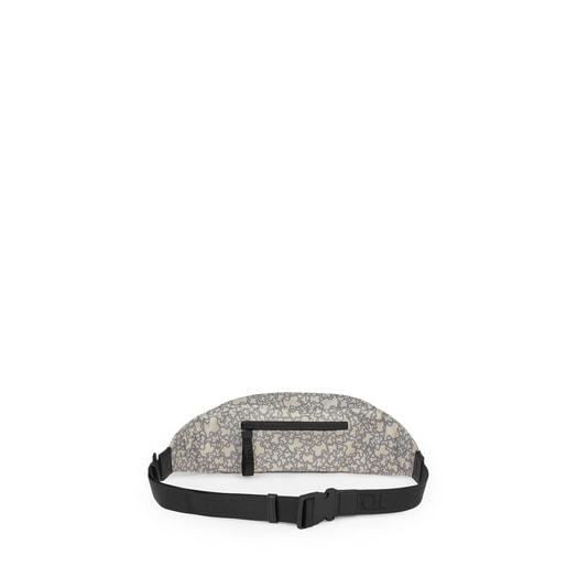 ベージュ&グレーのベルトバッグ Kaos Mini Sport