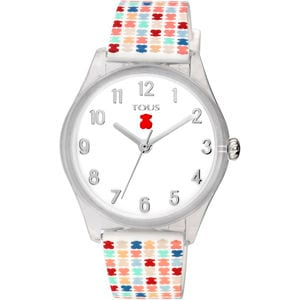 Poly-carbonate Tartan Kids Watch with Multicolor Silicone Strap