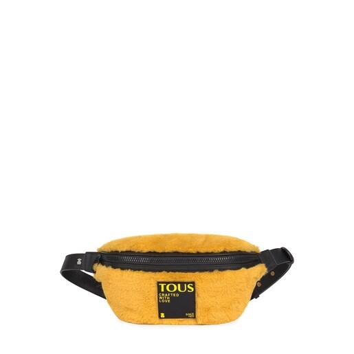 Bolsa de cintura Amaya Fur mostarda