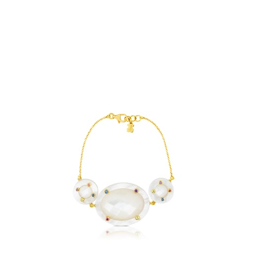 Ciel Bracelet in Gold with Gems and Mother-of-Pearl