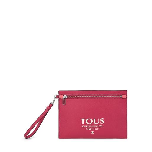 Πολύχρωμη-ροζ τσάντα Clutch TOUS Essential