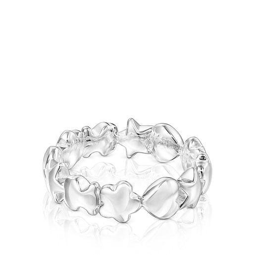 Silver Mini Icons Ring