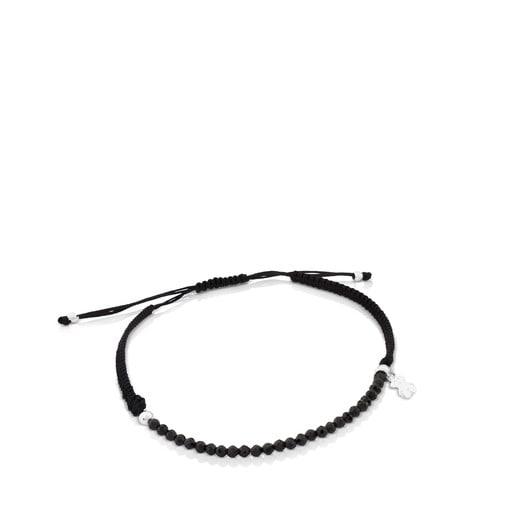 Pulsera TOUS Color de Plata y Cordón en color negro