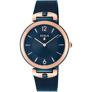 Rellotge S-Mesh bicolor acer / IP rosat i blau