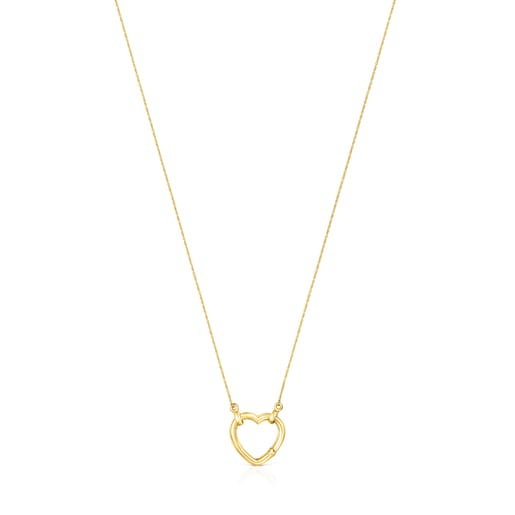 Hold Gold heart Necklace