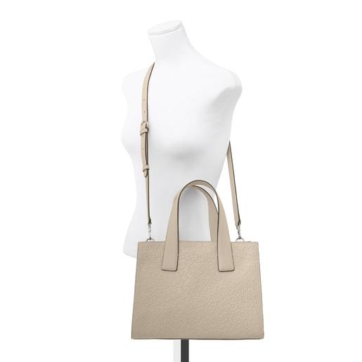 Beige leather Sira city bag