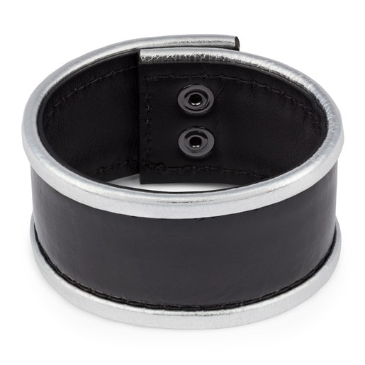 Cuff fiocchi negro-plata