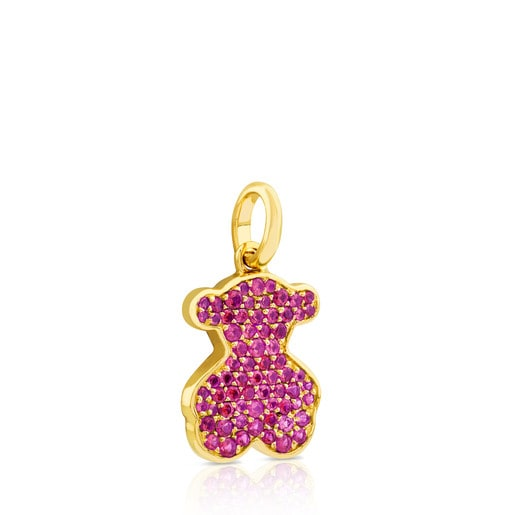 Gold Icon Pendant with Ruby