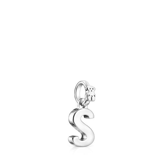 Alphabet letter S pendant in silver