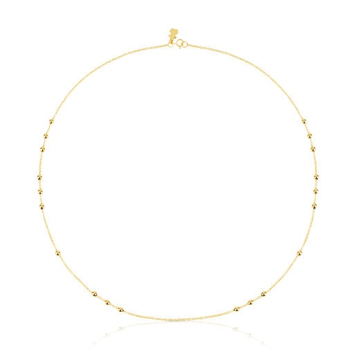 45cm Gold TOUS Chain Choker with 8 groups of interspersed balls.