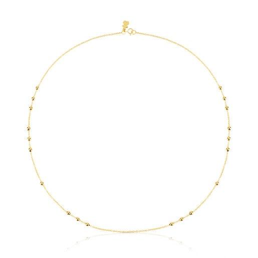 Cadena TOUS Chain de oro con 8 grupos de bolas intercaladas, 45cm.