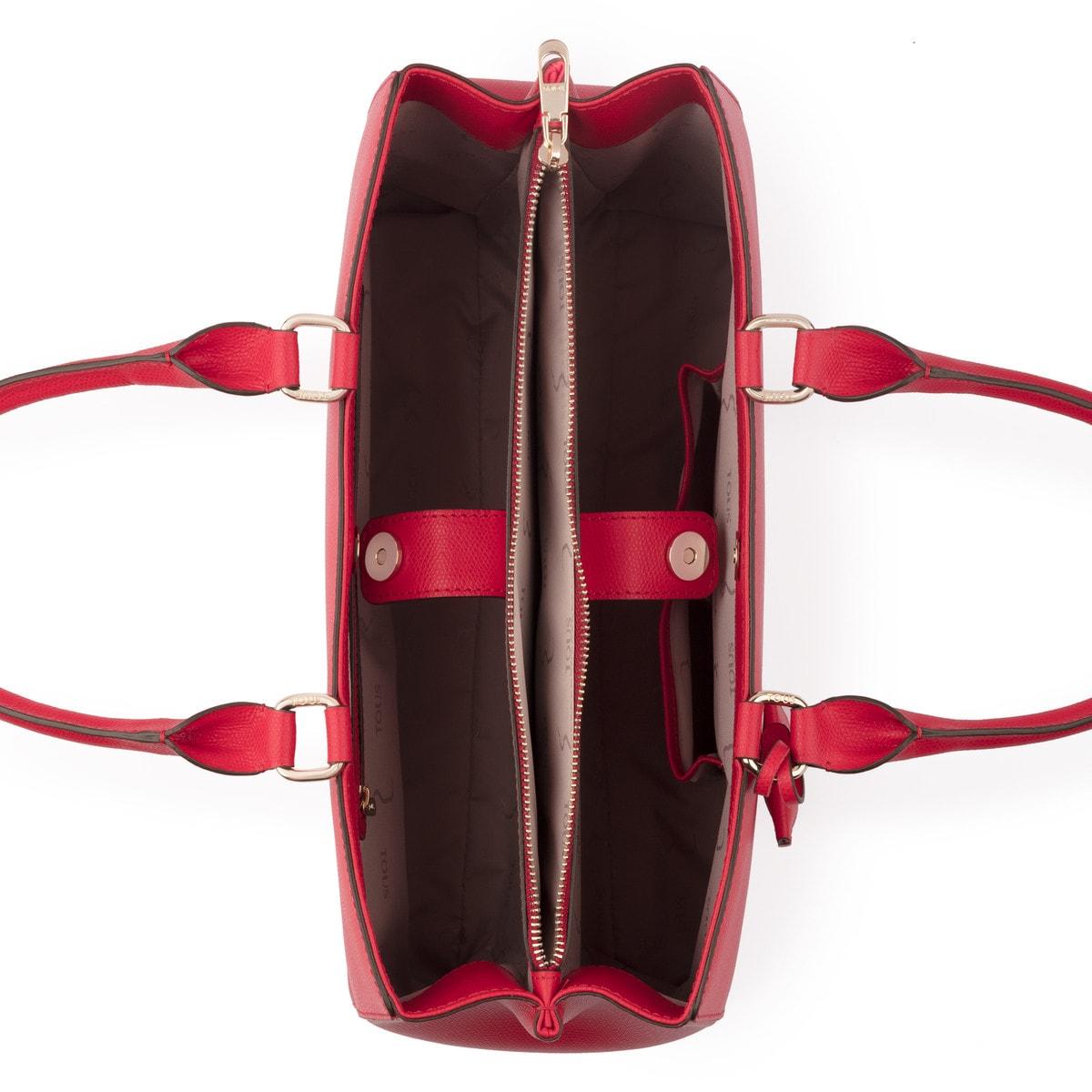 ab1c2d4b31 Τσάντα πόλης μεσαίου μεγέθους Odalis από Δέρμα σε κόκκινο χρώμα ...