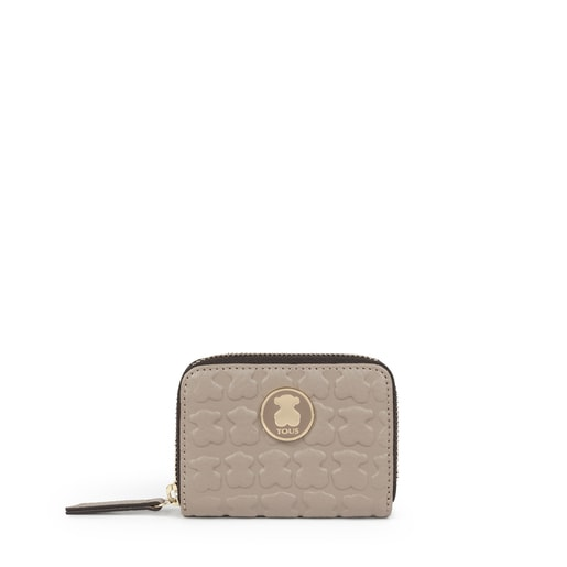 Medium Taupe colored Leather Sherton Change purse