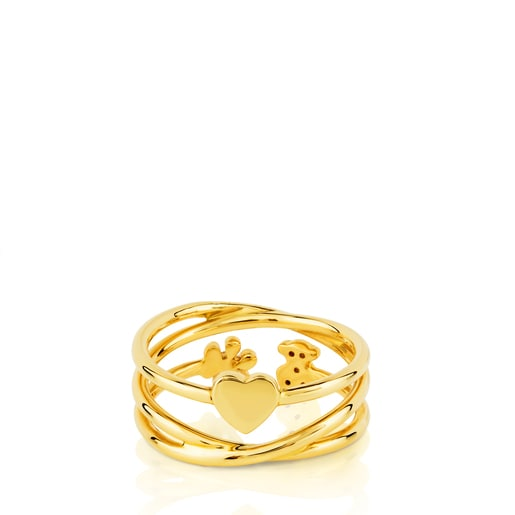 Gold Muak Ring with Diamond
