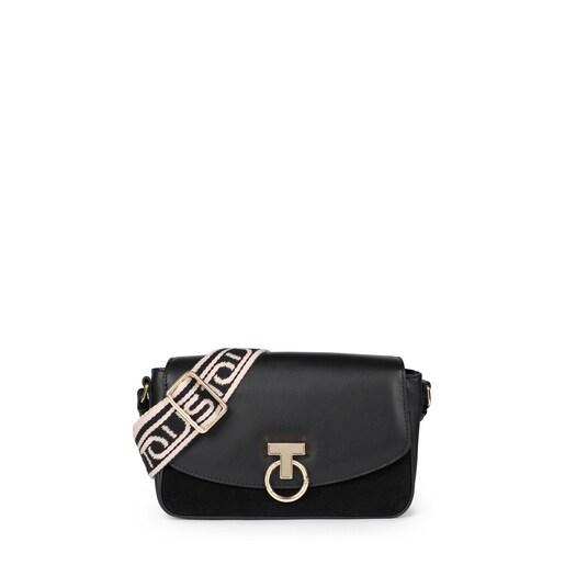 Black Leather Zafiro Crossbody bag