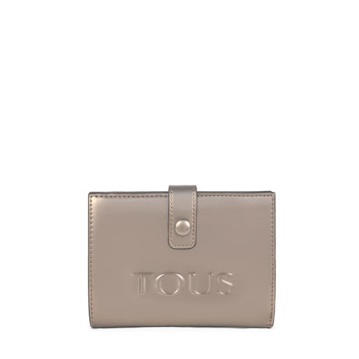 Small gray and fuchsia New Dorp Wallet